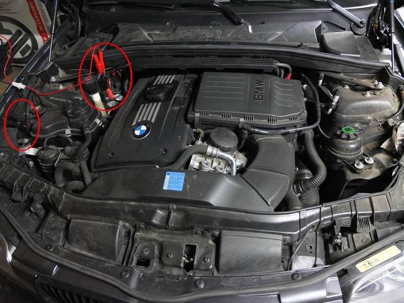 BMW 135i e88 - charger sa batterie