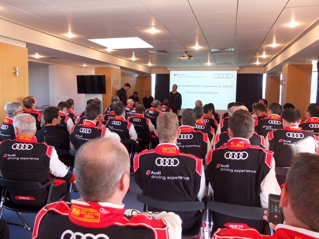 Audi endurance experience - briefing de course