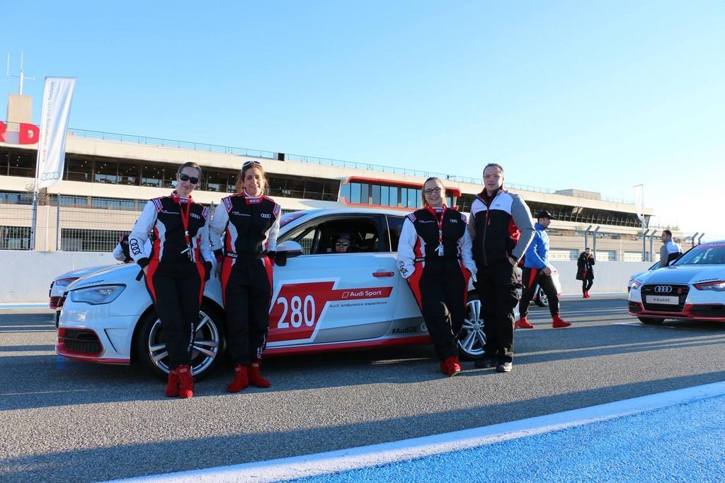 Audi Endurance Experience - sur la grille avant le départ de la 2eme course