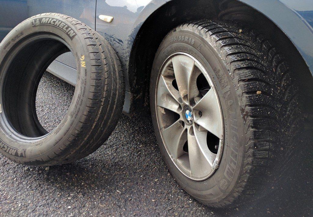 montage pneu hiver