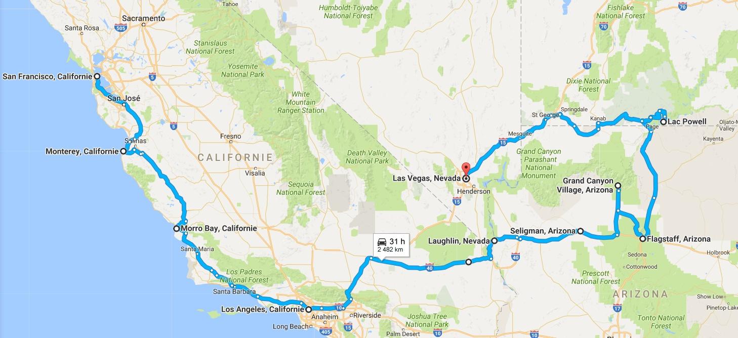 maps roadtrip us