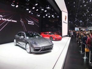 Porsche panamera et 911 gt3 - geneve 2017