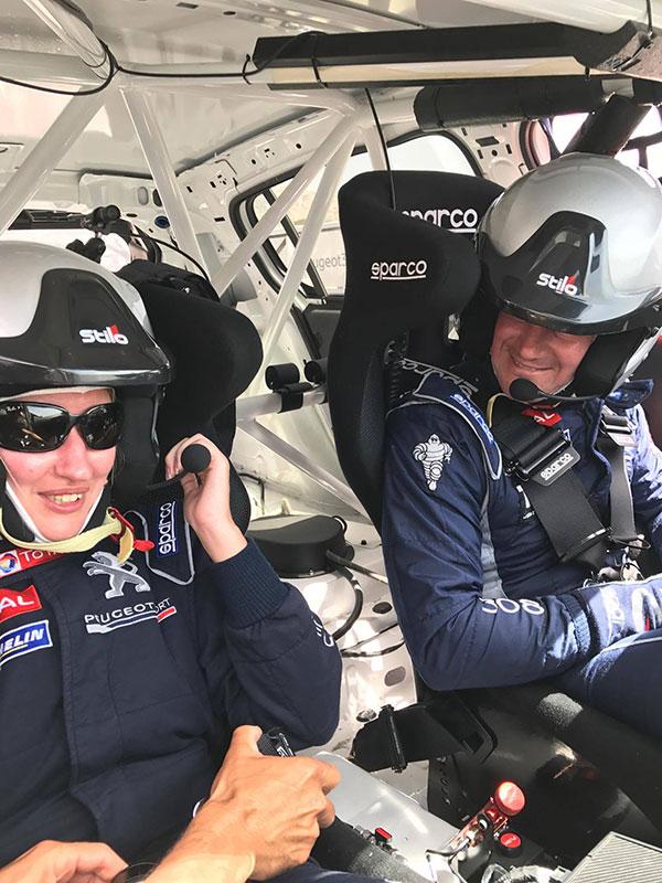 Miss280ch et Greg Guilvert dans la 308 Racing cup