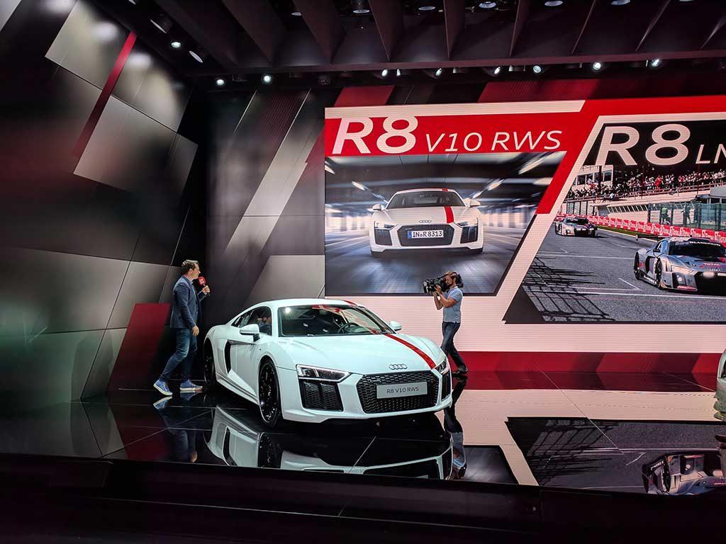 iaa2017 Audi R8 V10 RWS