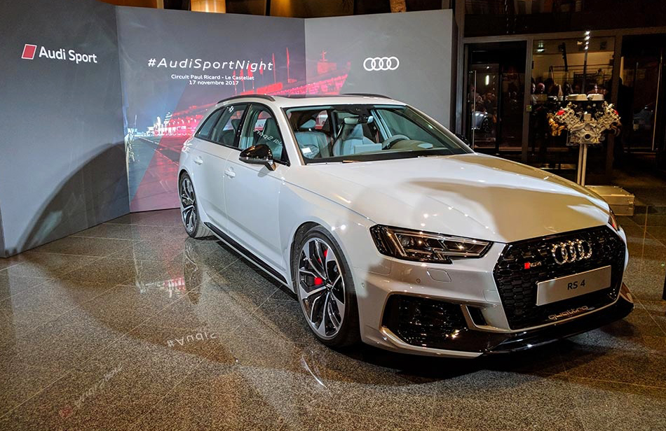essai express de la nouvelle audi rs4 avant 2018 sur circuit miss 280ch. Black Bedroom Furniture Sets. Home Design Ideas