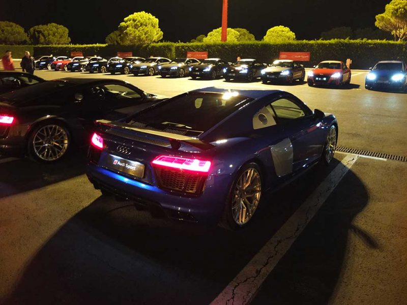 Audi Sport Night - audi R8 v10 plus