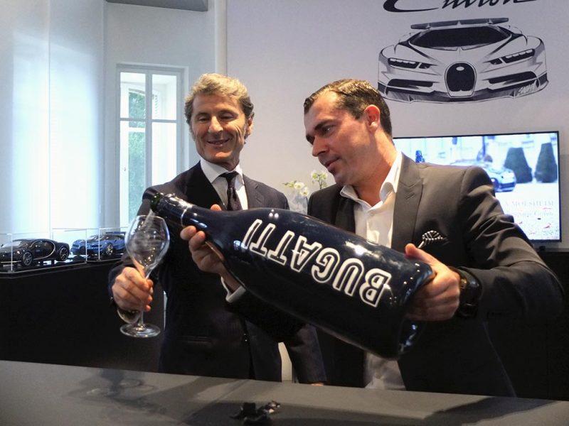 signature partenariat Bugatti Champagne Carbon