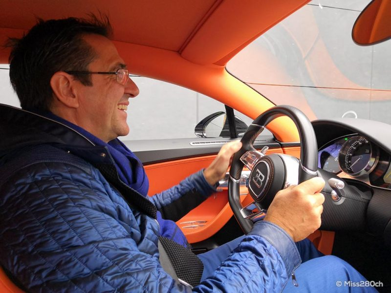 Pierre-Henri Raphanel au volant de la Bugatti Chiron