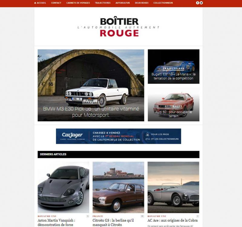 Boitier Rouge média automobile