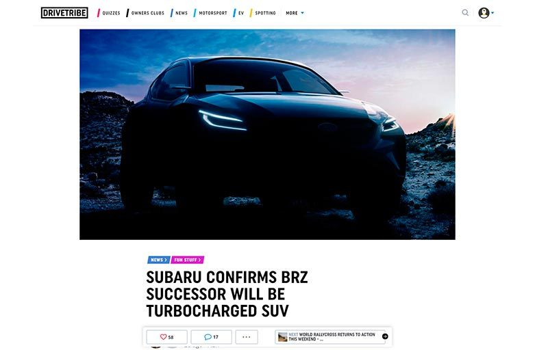 Poisson d'avril subaru brz suv