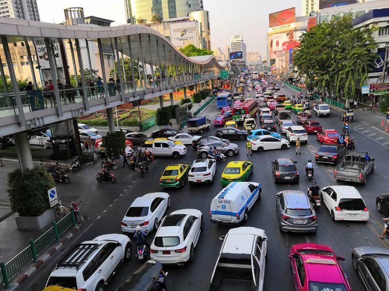 Circulation dans les rues de bangkok