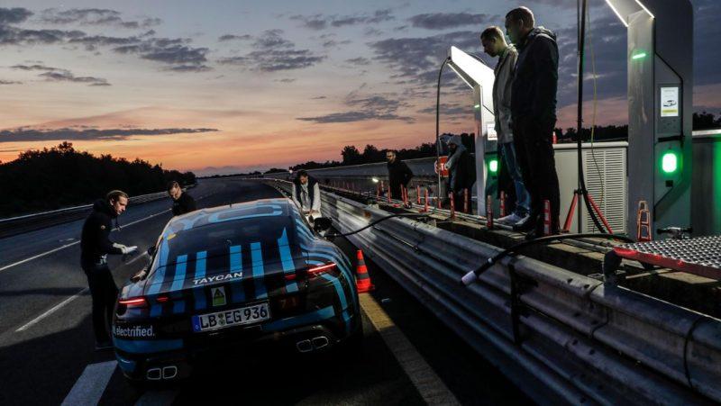 Porsche taycan prototype à nardo