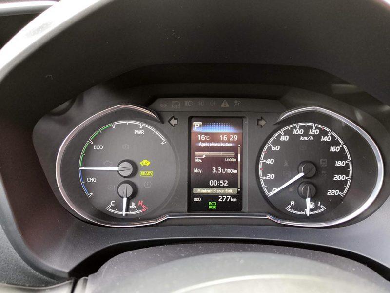 Essai Toyota Yaris GR Sport (100ch) - consommation hybride