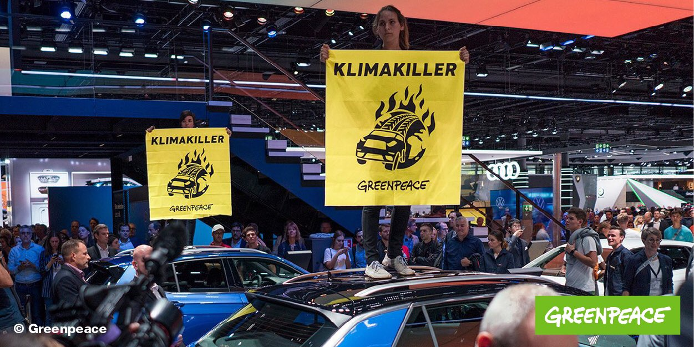 #iaa2019 : les écologistes perturbent le salon automobile de Francfort