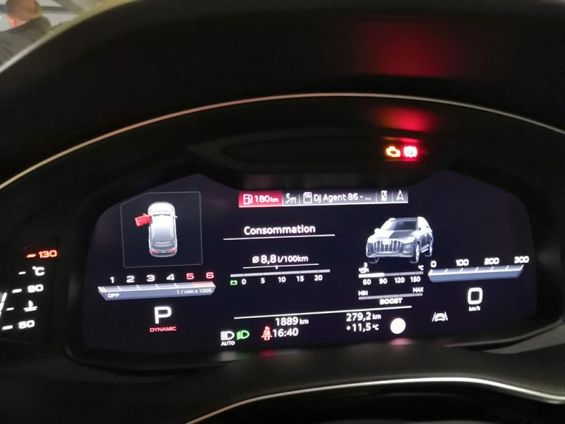 Audi SQ7 2020 - consommation