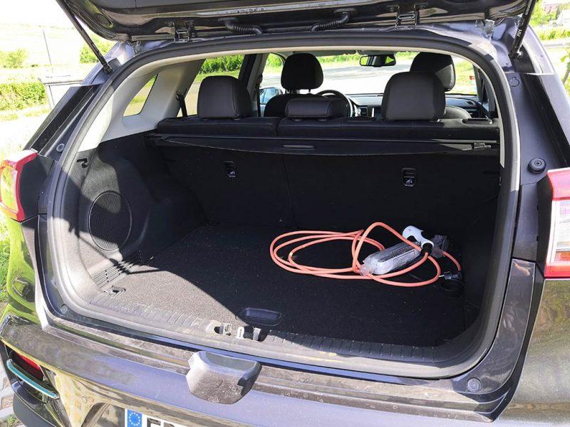 essai Kia e-Niro 64 kWh coffre