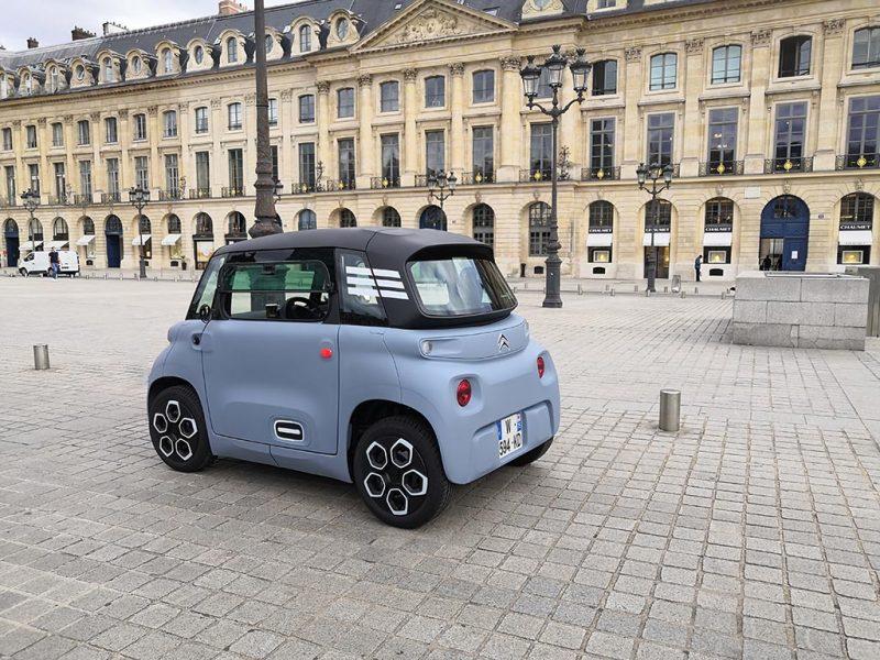 Essai Citroën AMI place vendôme