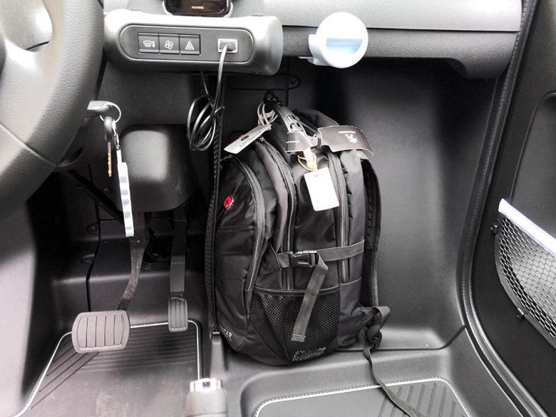 Essai Citroën AMI - rangement pour valise