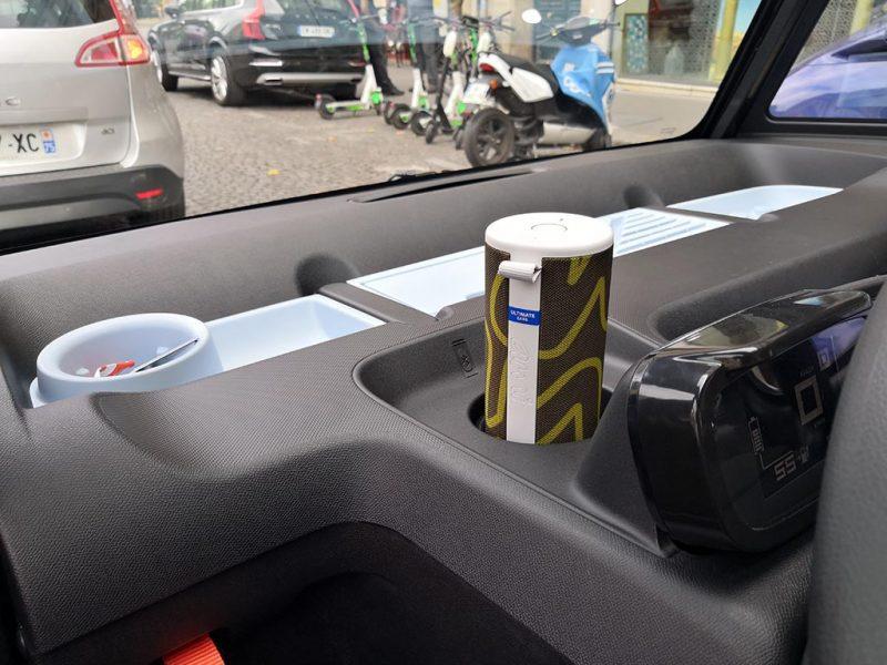 Essai Citroën AMI - rangements/accessoires intérieur