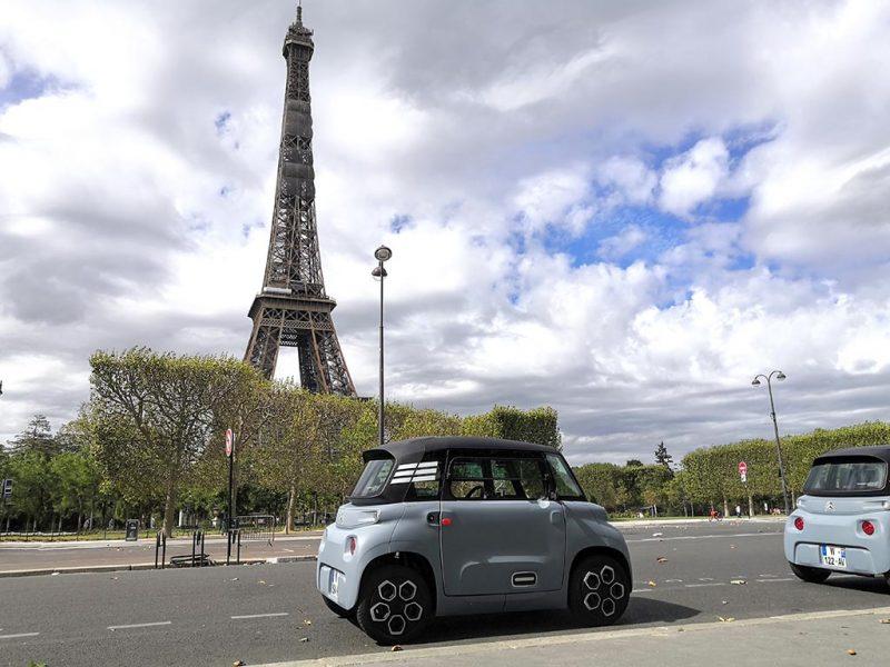 Essai Citroën AMI et la tour Eiffel