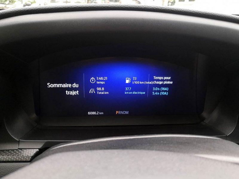 Essai Ford Explorer PHEV - consommation