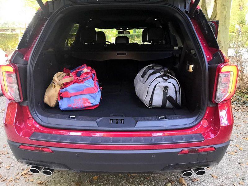 Essai Ford Explorer PHEV - coffre