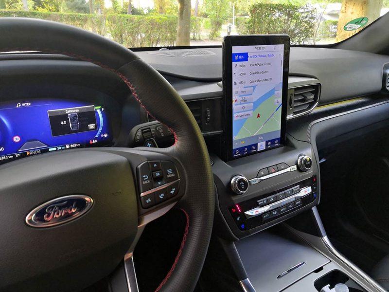 Essai Ford Explorer PHEV - écrans