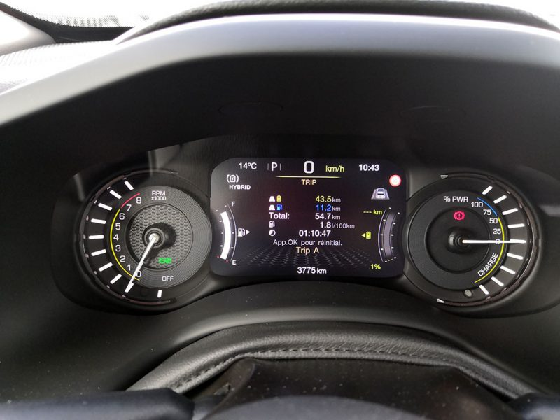 Consommation Jeep Renegade 4xe hybride phev