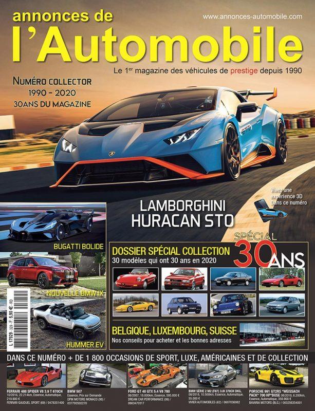 couverture numero 30 ans annonces automobile