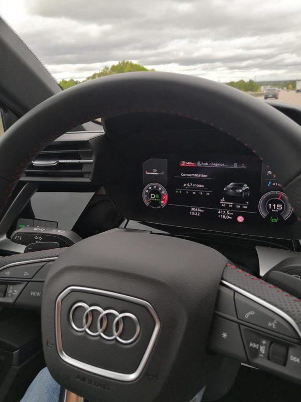 Audi A3 35 TFSI (2020) - Challenge ecoconduite