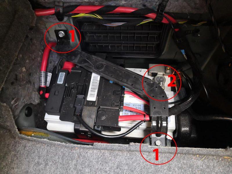 changement batterie bmw etape1