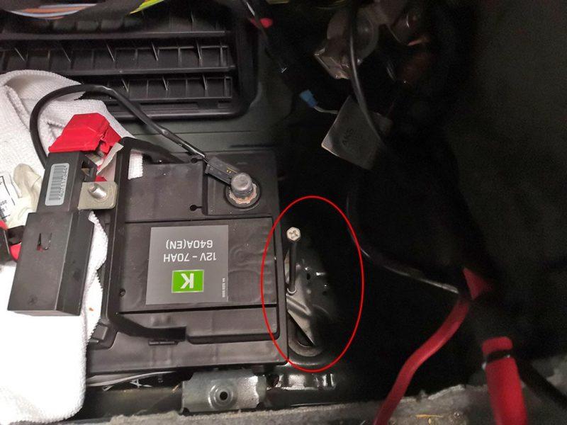 changement batterie bmw etape6