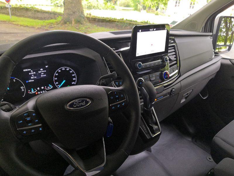 essai Ford transit custom phev