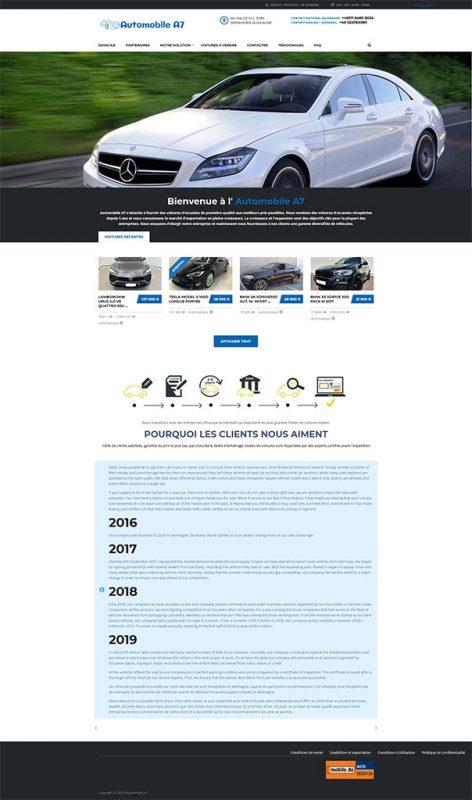 screenshot a7 automobile (faux sites annonces)
