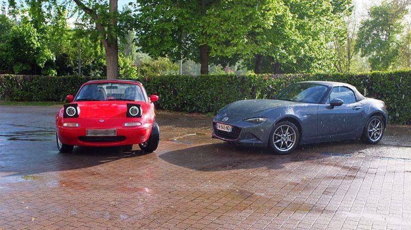 Rencontre entre une Mazda MX-5 NA et une MX-5 ND